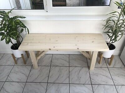 WOODEN KITCHEN BENCH | Handmade In UK | Variety Of Finishes • 74£