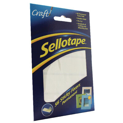 £2.25 • Buy Sellotape Sticky Fixers Pk 56 Double Sided Permanent Foam Pads Same Day Dispatch
