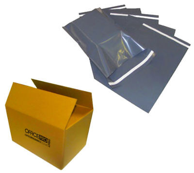Strong Poly Mailing Postage Postal Bags Quality Self Seal Grey Plastic Mailers • 2.44£