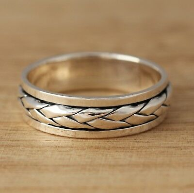 Solid 925 Sterling Silver Celtic Spinning Rotating  Band/Thumb Ring Mens/Womens • 19.98£