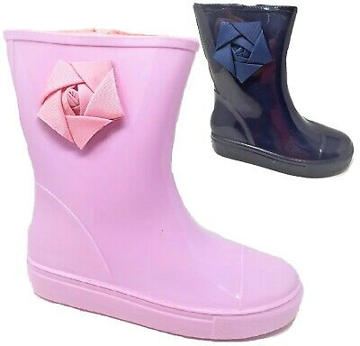Girls Ladies Junior Wellies Snow Waterproof Wellington Pink Rain Boots Size 13-5 • 9.95£