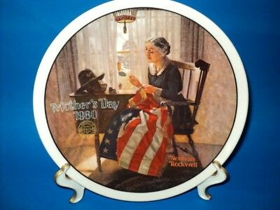 $ CDN2.77 • Buy Norman Rockwell Collector Plate   A Mother's Pride   #5 Mother's Day Series 1980