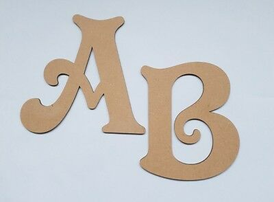 £1.10 • Buy  Wooden MDF Letters 3mm Thick! 5 Heights Available Victorian Font