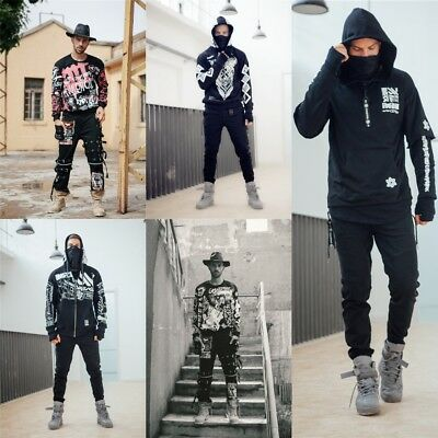 $ CDN87.92 • Buy Rock And Roll Hoodie Cyberpunk Sweatshirt Jacket Costume Sportswear Tops Cool