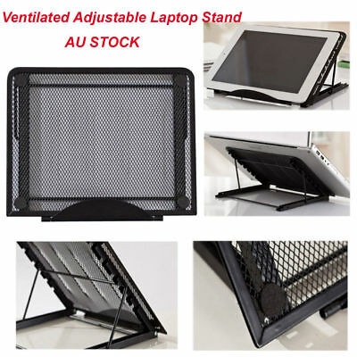 AU23.99 • Buy Metal Ventilated Adjustable Laptop Stand Mount For Tablet IPad Notebook Laptop