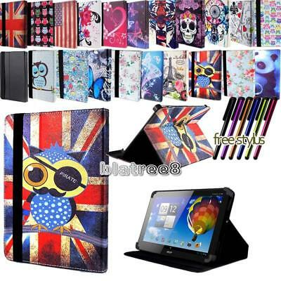 For Various 10  Acer Iconia Tab Tablet - Smart Stand Leather Cover Case + Stylus • 5.99£