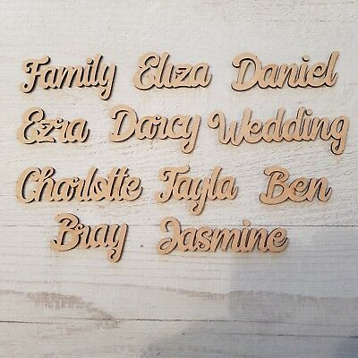 £2.95 • Buy Personalised Child's Names, Letters  Words Wedding, Art Wooden MDF Craft Plaque