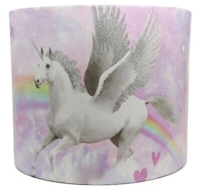 £26.99 • Buy Pink Unicorn Lampshade Light Shade Accessories Gifts For Girls Bedroom Purple