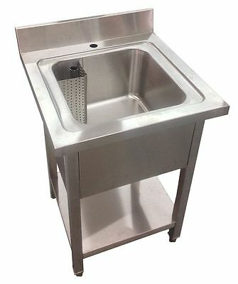 Commercial Stainless Steel Single Bowl Sink Kitchen 600mm Width • 259£
