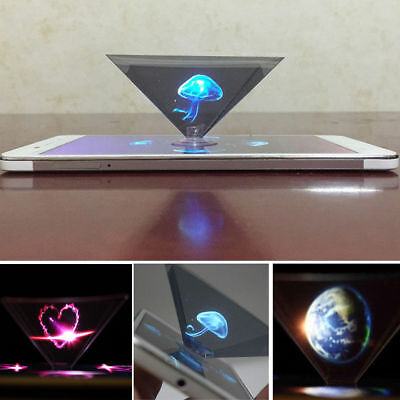 New Holographic Projector Mobile Smart Phone Hologram 3d For Iphone Samsung Uk • 2.99£
