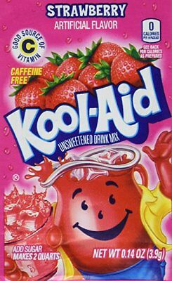 1 Pack Of Strawberry FLAVOR Kool Aid Drink Mix Vitamin C • 1.42£