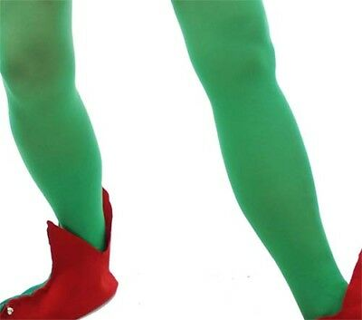 Christmas/Dress Up/Fancy Dress Ladies RED OR GREEN ELF TIGHTS Fits Sizes 10-14 • 3.25£