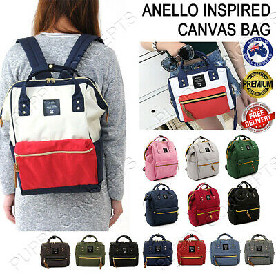 AU19.99 • Buy Japan Anello Inspired Women Travel Backpack Canvas Shoulder School Fashion Bag