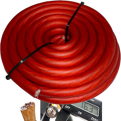 $38.15 • Buy 20' Ft 0 Gauge Red Car Audio Power Ground Wire Cable 20 Feet Zero AWG USA Ship