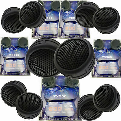 $ CDN23.87 • Buy 5 Pairs 2000W Total Power Super High Frequency Mini Dome 1 Inch Car Tweeters 5x