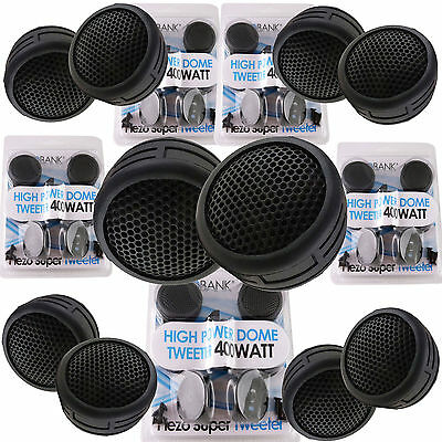 $ CDN22.82 • Buy 5 Pairs 2000W Total Power Super High Frequency Mini Dome 1 Inch Car Tweeters 5x
