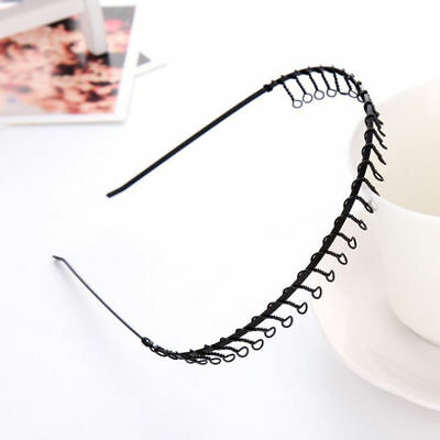 £2.25 • Buy METAL Wire HEADBAND Football Sports Gym Toothed Alice Hair Head Band Mens Boys