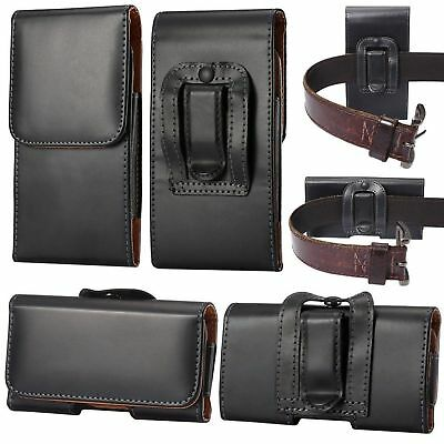 AU12.95 • Buy For Motorola Moto E4 Black Tradesman Belt Clip Loop Holster Case Cover Pouch