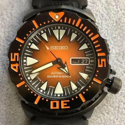 $ CDN1266.91 • Buy Seiko 4R36-01J0 Orange Monster Shark Tooth Automatic Authentic Men's Watch Works