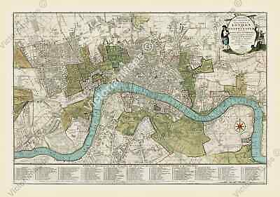 £19.70 • Buy Antique Guide Map Early Plan Of London Westminster Bowles 1800 Art Print Poster