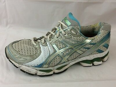 $34.99 • Buy Asics Gel Kayano 17 T150N Wmns 10 M Blue Green White Running Sneaker Shoe Silver