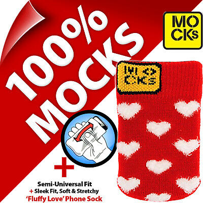 £3.97 • Buy Mocks Love Heart Mobile Phone MP3 Sock Case Cover Pouch For IPhone 4S 5 5S 5C SE