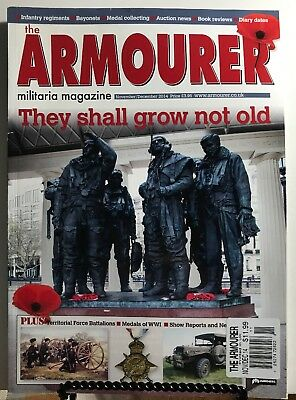 $16.97 • Buy The Armourer UK They Shall Not Grow Old WWI Medals Nov Dec 2014 FREE SHIPPING JB
