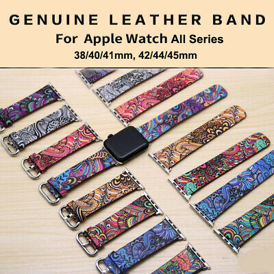 AU12.95 • Buy Genuine Leather Band Strap Bohemia Style Watch Band For Apple Watch 6 5 4 3 2