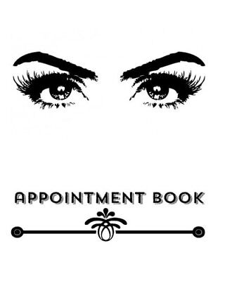Appointment Book Pretty Eyes Design  3 Column Daily Appointment Book For Salon • 9.50£