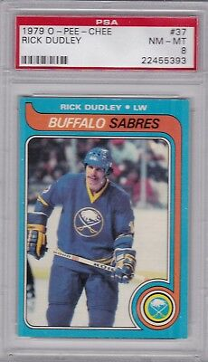 $13.99 • Buy 1979 O-PEE-CHEE #37 RICK DUDLEY PSA 8 NM/MT Buffalo SABRES OPC - CENTERED
