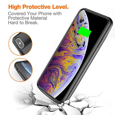 AU64.59 • Buy For IPhone X XR XS Charging Battery Case With Smart Led Power Indication-6000mAh