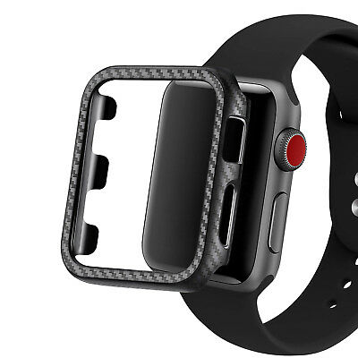 $ CDN5.80 • Buy Matte Real Carbon Fiber Protective Case Cover For Apple Watch Series 4 3 2 1