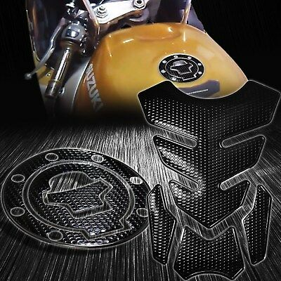 $29.88 • Buy 4PC Perforated Black Gas Tank Pad+Fuel Cap Cover 97-03 GSXR-600/750/1000/Busa