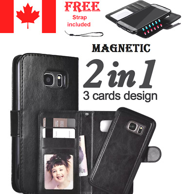 $ CDN11.99 • Buy Luxury Leather Magnetic Card Wallet Flip Case For Samsung Galaxy Most Models