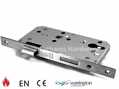 Mortise - Stainless Steel Fire Rated CE Door Sash Lock Euro Profile Case Body • 15.99£