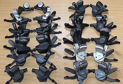 AU124.77 • Buy Shimano Shifters 3 7 8 9 10 24 27 Speed Left Right Shifter Pods Gear XT Deore