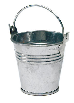 £12.99 • Buy Favour Metal Pail Mini Pack Of 12 Silver Gift