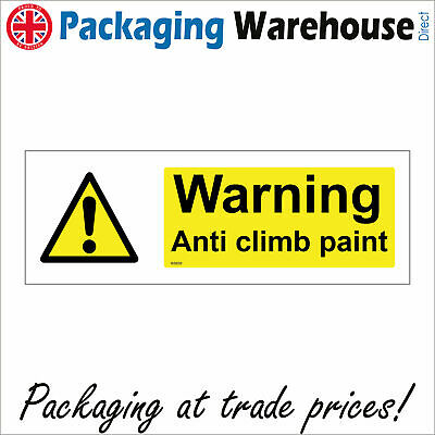 £9.82 • Buy Ws699 Warning Anti Climb Paint Sign Vandals Access Thieves Intruders Keep Out