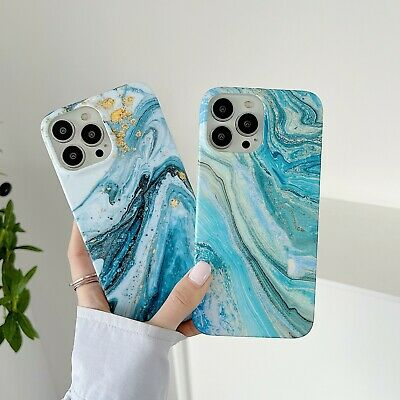 AU7.65 • Buy Luxury Marble Pattern Soft Bumper Case Cover For IPhone 12 11 Pro Max XR Xs SE