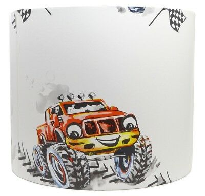 £26.99 • Buy Monster Truck Lampshade Light Shade Cars Boys Bedroom Nursery Accessories Gifts