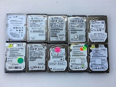$ CDN132.13 • Buy LOT OF 10 250GB 2.5  Laptop SATA Hard Drives Mix Seagate WD Hitachi Toshiba
