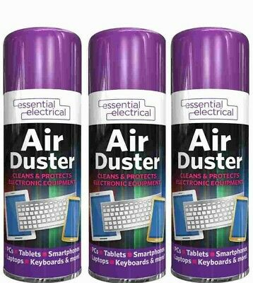 £6.95 • Buy 3x Air Duster Spray Gas Can Cleaner Compressed Dust Blower Laptop Computer 200ml