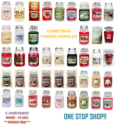 Yankee Candles - CHRISTMAS SCENTS - Medium/Large Jar - Up To 150 Hour Burn Time • 21.99£