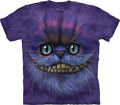 £24.99 • Buy Big Face Cheshire Cat T Shirt Adult Unisex Mountain