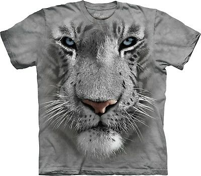 £17.99 • Buy White Tiger Face Big Cats T Shirt Child Unisex The Mountain