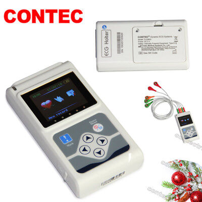 £230 • Buy CE 24 Hours 3 Channel ECG/EKG Holter/recorder Monitor/System TLC9803,PC Software
