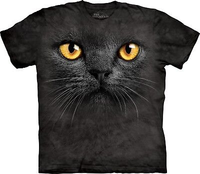 £22.71 • Buy Big Face Black Cat Pet T Shirt Adult Unisex The Mountain