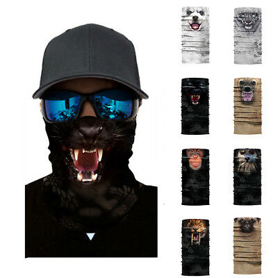 6b3ade8461d 3D Animal Ski Cycling Snowboard Scarf Neck Warmer Face Mask Balaclava  Bandana US • 6.75