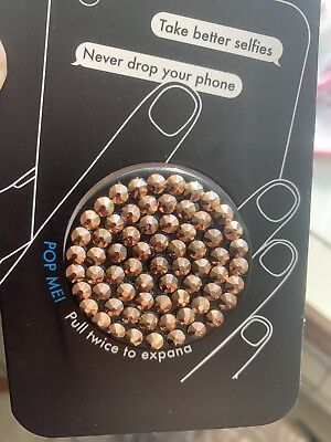 AU49 • Buy NEW Authentic Bling Rhinestone PopSocket Rose Gold Swarovski Elements IPhone