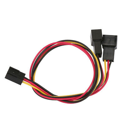 $3.30 • Buy 2P 3-Pin To 2x3-Pin Computer Case Fan Y-Splitter Power Connector Adapter Cable